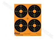 "Orange Peel Caldwell bullseye targets 4"""