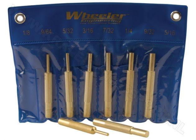 Pin Punch Set Wheeler Brass 8-piece