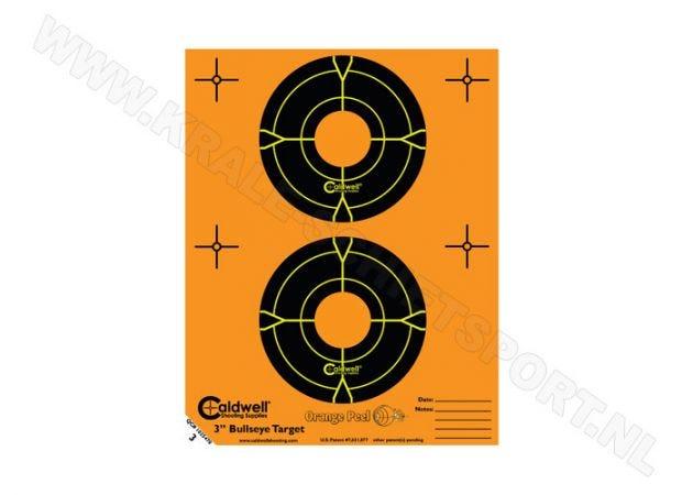 "Orange Peel Caldwell bullseye targets 3"""