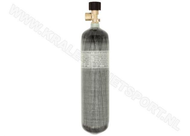 Charging cylinder Krale Carbon 3 liter 300 bar with standard valve